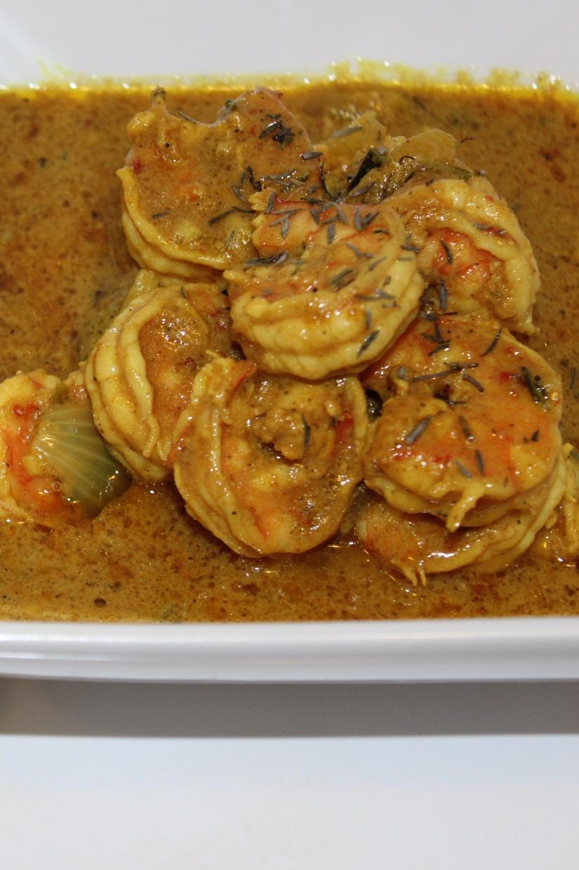 Coconut Curry Shrimp.