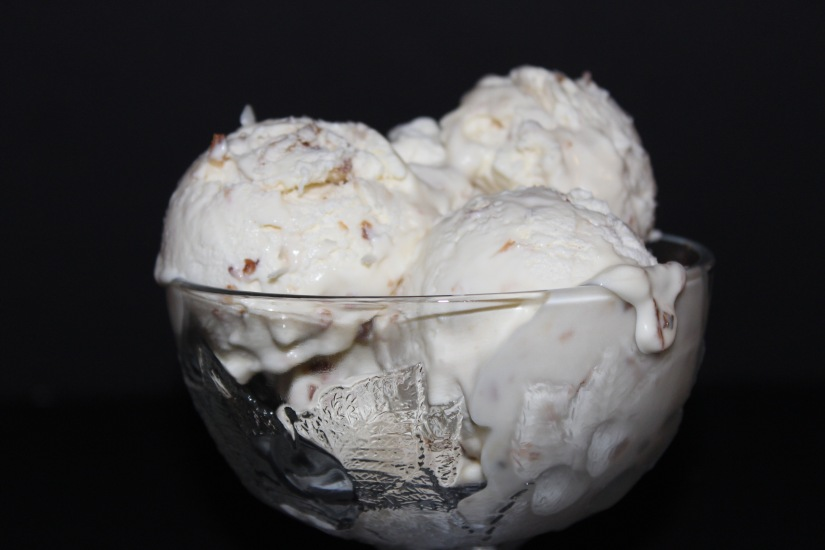 No Churn Toasted Coconut Ice Cream.